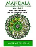 Mandala Coloring Book Mega Bundle Vol. 4 & 5: 100 Detailed Mandala Patterns