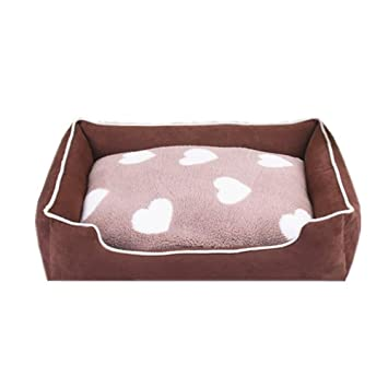 LIGHTOP Cama para Perro Cama para Mascotas de Lujo Suave cojín Desmontable Colchoneta Resistente Perro De Perrito Sofa para Gatos y pequeño Perro Mediano: ...