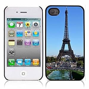 Paris Eiffel Tower Hard Plastic and Aluminum Back Case for Apple iphone 4 4S