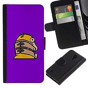 All Phone Most Case / Oferta Especial Cáscara Funda de cuero Monedero Cubierta de proteccion Caso / Wallet Case for Samsung Galaxy S4 IV I9500 // Funny Crazy Duck