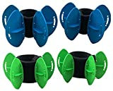 Aqualogix Aquatic Fins Travel Pack - Omni-Directional Water Resistance Exercise for Lower and Upper Body Pool Fitness - Includes Online Demonstration Video (2 Pair)