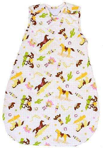 Baby Sleeping Bag - Wearable Blanket, 100% Cotton, 1 TOG Summer Model (Large (22 mos - 3T))