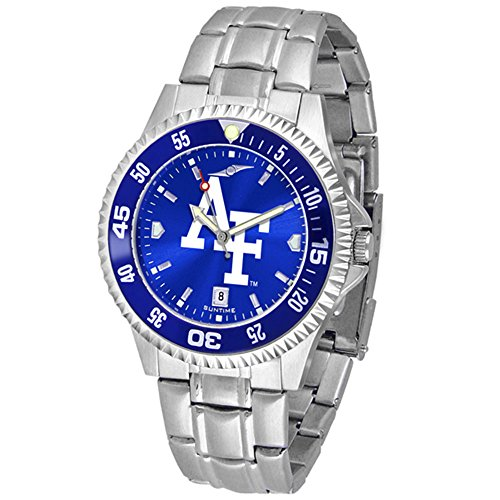 Falcons Watch Mens Executive (New Linkswalker Mens Air Force Falcons Competitor Steel Anochrome Bezel Watch)