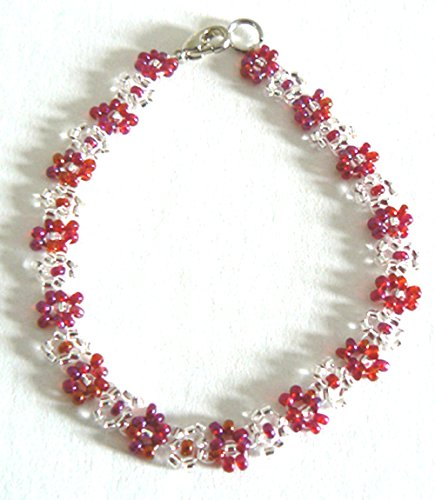 - Handmade Hand Beaded Daisy Chain Flower Bracelet Anklet Women Teen Girls Jewelry Birthday Silksalon