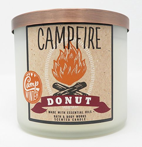 Bath & Body Works Candle 3 Wick 14.5 Ounce Campfire Donut