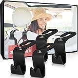 Starling's Back Seat Headrest Hanger Storage Hooks for Car, SUV (Set of 4) Black