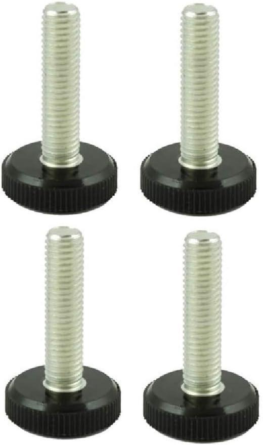 Pies de nivel ajustable – Juego de 4 – rosca M10 con diámetro de pie de 30 mm – ideal para muebles, electrodomésticos y equipo pequeño