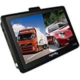 Xgody 7 Inch Portable Truck Car GPS Navigation Sat Nav Touch Screen Built-in 4GB 128MB RAM FM MP3 MP4 Lifetime Map WinCE6.0