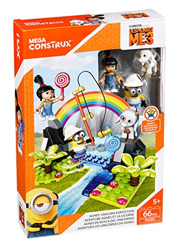 Mega Construx Despicable Me Agnes Unicorn Expedition Building - Me Outfit Despicable