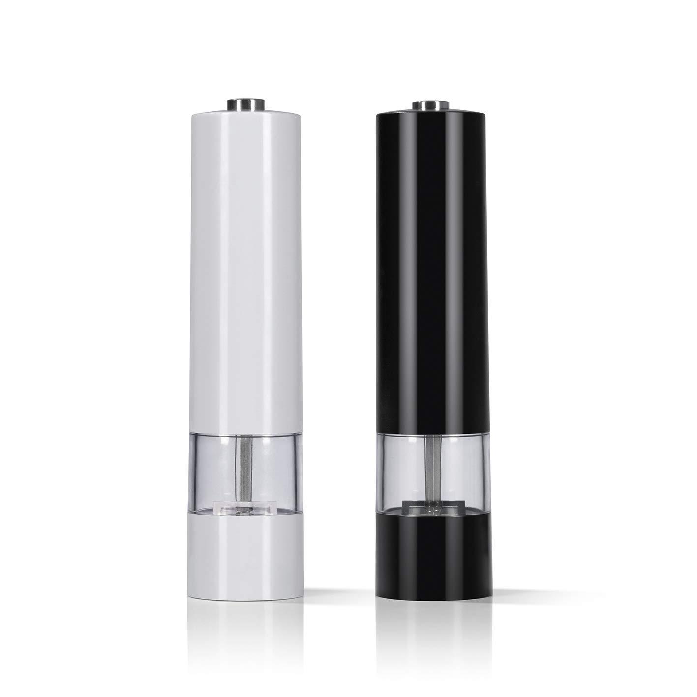 Mit Keramikmahlwerk und LED Beleuchtung /& Pfefferm/ühle 2-TLG GOURMETmaxx Salz 6V Extra starker batteriebetriebener Motor