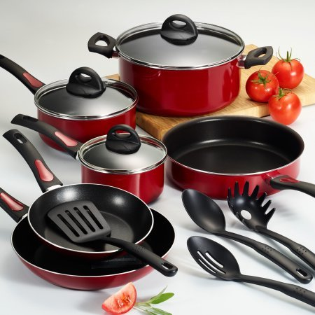 Cookware Set 13 Pc Nonstick , Red