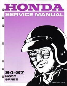 61gk803 1984 1987 honda nq50 spree scooter service manual rh amazon com 1984 Honda Spree Parts 1984 honda spree manual pdf