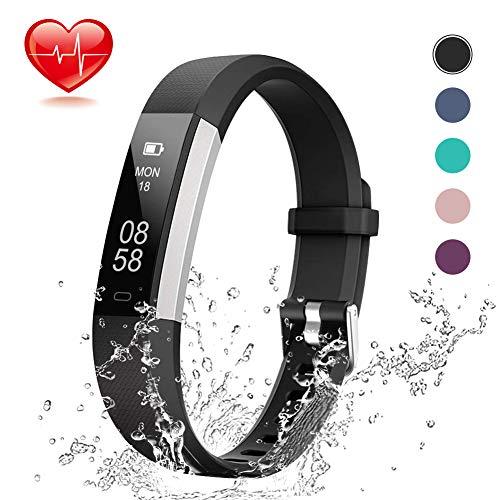 Lintelek Fitness Tracker, Slim Activity Tracker with Heart Rate Monitor,...