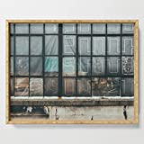 Society6 Serving Tray with handles, 18'' x 14'' x 1 3/4'', Dirty Windows by jillianvanzytveld