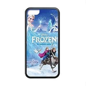 Disney Film Frozen Custom Cases for iPhone 5C pc hard (Laser Technology)