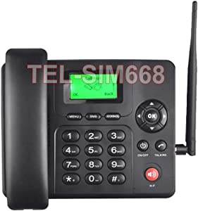 3G GSM Desktop Phone with Text Message Voice Mail FM Tuner Caller ID Support
