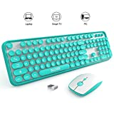 SADES V2020 wireless keyboard and mouse combo,keyboard with round keycaps, 2.4GHz Dropout-Free Connection, Long Battery Life for PC/laptop ¡­