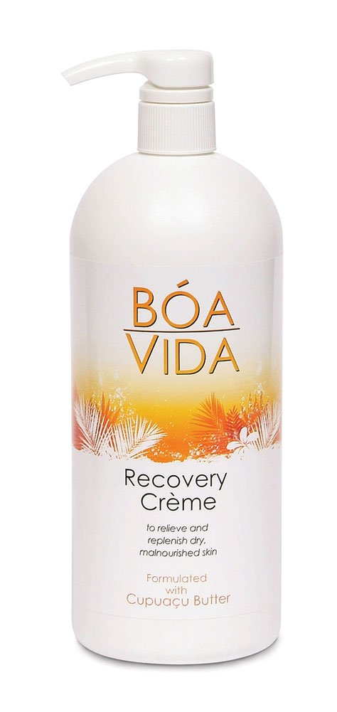 BoaVida Skin Recovery Crème, w/ Cupuacu Butter, 1.5% Dimethicone, 32 Oz, OVI21009 (Case of 6)