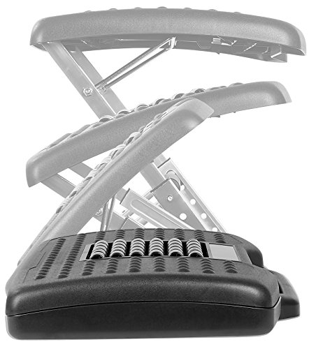 Mount-It! Adjustable Footrest with Massaging Beads Adjustable Height and Angle Office Foot Rest Stool for Under Desk Support, 3-Level Height Adjustment, Black by Mount-It! (Image #4)