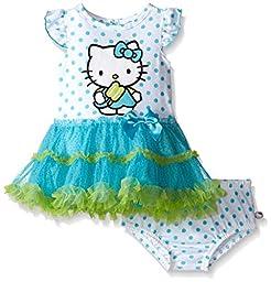 Hello Kitty Baby Girls\' Dress Set, Multi/Turquoise, 18 Months