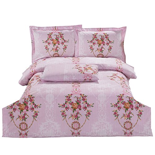 Mirage Sheet (8 Piece Super Soft Wrinkle Free Twin Size Set, Includes 2 Duvet Covers, 2 Fitted Sheets with Concealed Elastic All Around, 2 Shams & 2 Pillowcases, Royal Luxurious)
