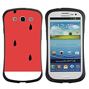 Fuerte Suave TPU GEL Caso Carcasa de Protección Funda para Samsung Galaxy S3 I9300 / Business Style Watermelon Cut Healthy Fruit Art