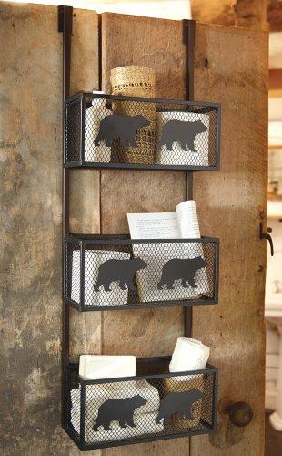 Bear Bathroom Door Shelf - Cabin Decor