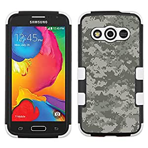 Samsung Galaxy Avant Case by UNIQUITI - TuMax Hybrid Cover(Black) - DESIGN (Digital Camo Gray)