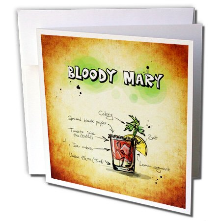 Sven Herkenrath Drink - Cocktail Blood Mary - 6 Greeting Cards with envelopes (gc_234218_1)