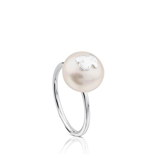 e3660eefa980 TOUS Anillo Mujer Sweet Dolls de plata de primera ley con perla 1 cm ...
