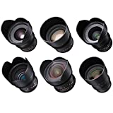 Rokinon Cine DS 6 Lens Kit for Sony E Mount (14, 24, 35, 50, 85, and 135mm)