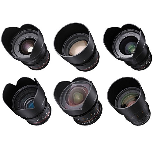 Rokinon Cine DS 6 Lens Kit for Sony E Mount (14, 24, 35, 50, 85, and 135mm) by Rokinon