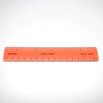 ETA hand2mind 12 Plastic Safe-T Ruler 1//16 Pack of 24