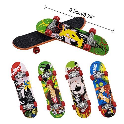 Gtlzlz 20pcs Professional Mini Metal Fingerboards/ Finger Skateboard, Unique Matte Surface Party Favors Novelty Toys for Kids Party Supplies (Random Pattern) by Gtlzlz (Image #1)