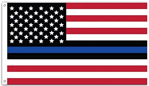 neejee delgada línea azul americano flag-police vida matter-3 X 5 pies, rojo/blanco/negro: Amazon.es: Jardín