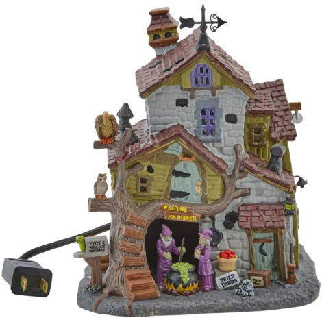Lemax Spooky Town Witch & Warlock Residence Halloween Building -