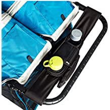 BEST DOUBLE STROLLER ORGANIZER for Smart Moms, Fits Both Double & Single Strollers, Deep Cup Holders, Extra Storage Space for iPhones, Wallets, Diapers, Books, & Toys, The Perfect Baby Shower Gift!
