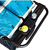 BEST DOUBLE STROLLER ORGANIZER for Smart Moms - Fits Both Double & Single Strollers - Deep Cup Holders - Extra Storage Space for iPhones - Wallets - Diapers - Books - Toys - The Perfect Baby Shower Gift!