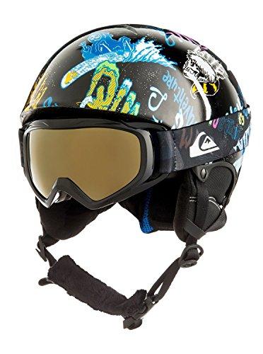 Quiksilver Boys The Game Pack - Helmet and Goggle Set for Boys 8-16 Snowboard/Ski Helmet Black 52