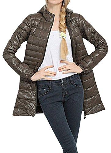 Ligero Parka Outwear Abrigo Chaqueta BLACKMYTH Extra Invierno Cálido Abajo Largo Verde Ejercito Mujer WHwYxv0qY