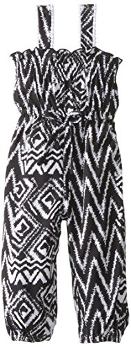 Youngland Baby Girls' Aztec Printed Jumpsuit, Black/White, 24 Months