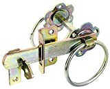 Gah-Alberts 210250 Garden Gate Latch for High Gates or Wattle Fence Doors Zinc-Plated Yellow Galvanised