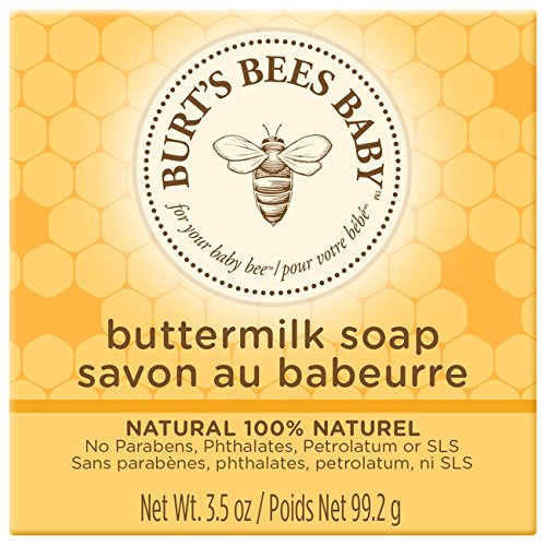 Burt's Bees Baby Buttermilk Soap, 100% Natural Baby Soap Bar, 3.5 Ounce Bar (Pack of 3) by Burt's Bees Baby