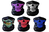 Skull Masks Xpassion 5 Pieces Windproof Dust-proof Face Mask Super Comfortable for Out Riding Motorcycle Bicycle Bike