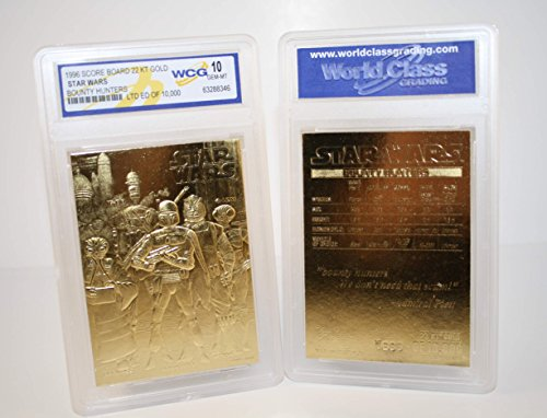 - Star Wars BOUNTY HUNTERS 23KT Gold Card Sculptured #/10,000 - Graded GEM MINT 10