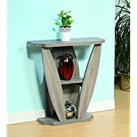Traditional Custom Hallway Stand Display Wooden Dark Taupe