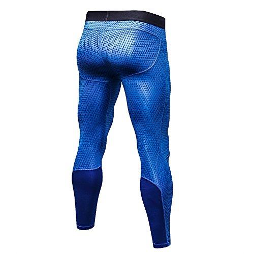 3d Running Blue Workout Exercise Tight Bodybuilding Homme Bmeigo Leggings Sport Pantalons 6wqxIHtIg