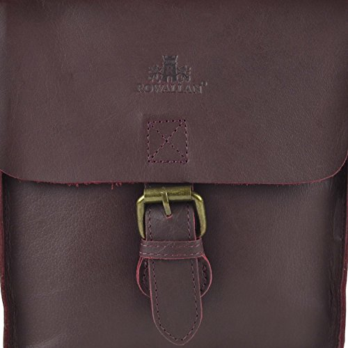 DONNA Color prugna Buffalo postino di cuoio Singolo Buckle borsa di ROWALLAN of Scotland Piccolo/s