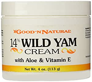 Good N Natural - 14% Wild Yam Cream with Aloe and Vitamin E - 4 oz Cream