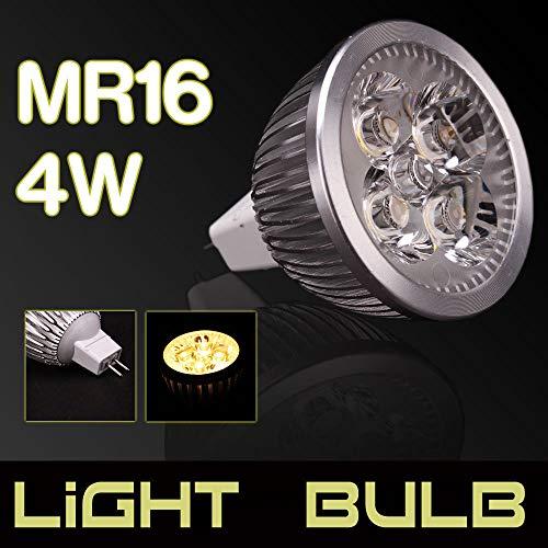 yan 12V 4W MR16 LED Flat Fluorescent Lamp Spotlight 6000-6500k for Home Office Decor